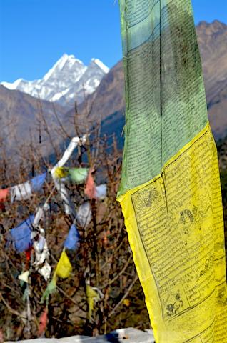 Drapeaux de prière / Népal