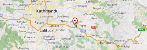 Backtapur Carte Népal