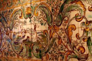 Scene de chasse en azulejos