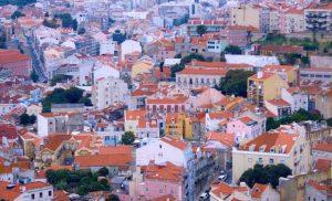 Toits colores de la ville aux 7 collines