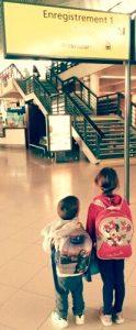 enfants et avion