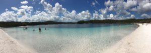 Fraser Island Lac avec vue panoramique