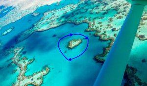 Heart Reef célebre par Yann Arthus Bertrand