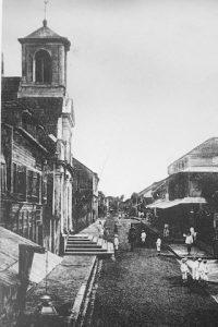 rue et eglise canal le Calebassier