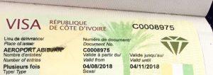 Visa Abidjan