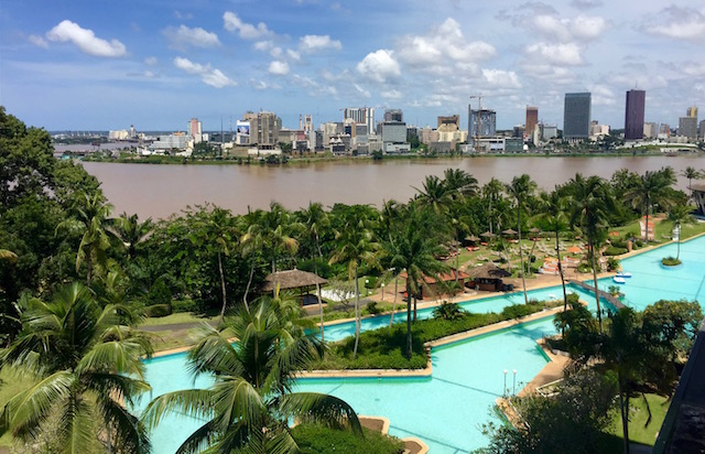 Vue des lagunes Cote d'Ivoire