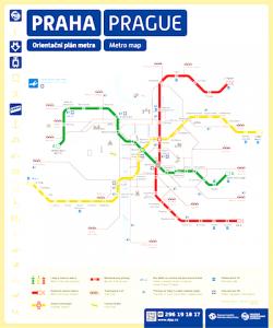 metro plan Prague