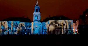 Rennes de nuit Mairie Flaner