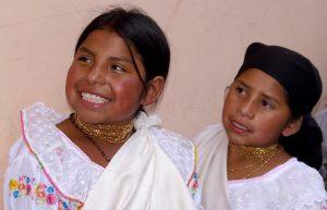 Fillettes en Equateur