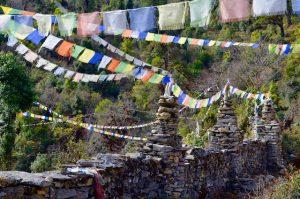 drapeaux de prière Nepal
