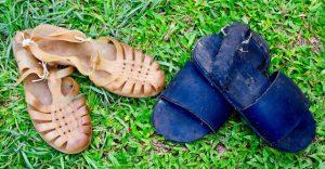 Sandales - metier d'hier