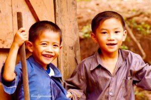 Portrait photo enfant Laos
