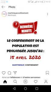Martinique et confinement