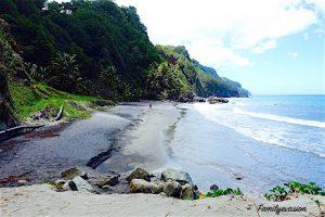 Plage Grand-Rivière - Martinique - balades avec familyevasion
