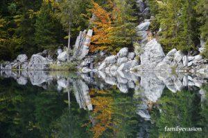 lac vert couleur - famille Martin