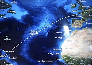 rentrer chez soi - survol Atlantique