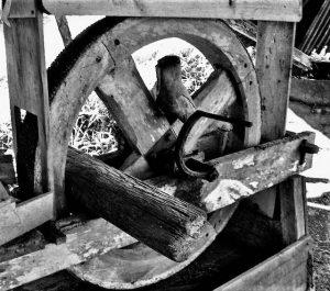 Le bras visible du moulin
