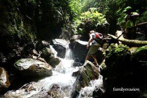 Passage riviere roxelane - cascade du Roy